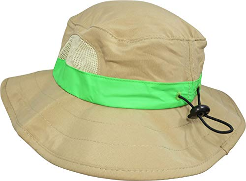M/L Combination Set: 1 Tan Cargo Vest for Kids with Reflective Safety Straps - 1 Floppy Bucket Hat with Chin Strap - 1 8x21 Power Binoculars with Soft Rubber Eye Piece, Waterproof & Shcok-Resistant by Eagle Eye (Image #6)