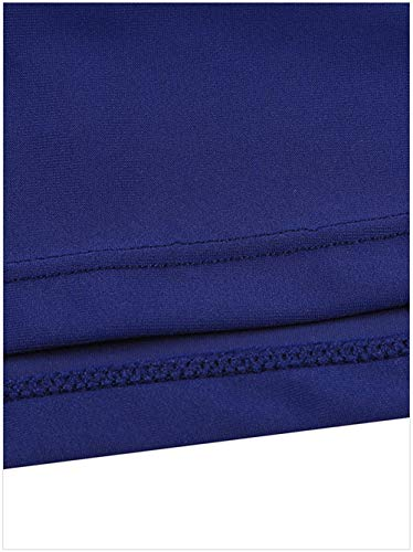 fonc attache Fortuning's JDS lastique Jupe Les Couleur Jupe de Femmes Bleu Unie Jupe Bande OSqPOwrF