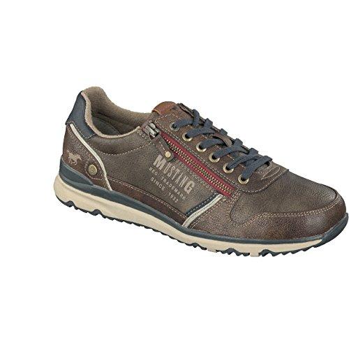 Mustang Herren Sneaker - Grau Schuhe in Übergrößen Braun