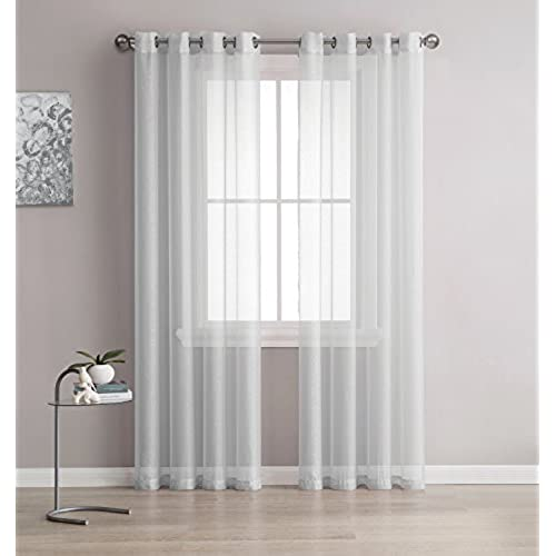 Sheer Cafe Curtains Amazon Com: Modern Sheer Curtains: Amazon.com