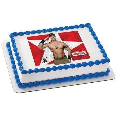 Amazoncom World Wrestling John Cena Edible Cake Cupcake Cookie
