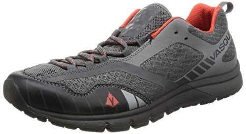 Vasque Men's Vertical Velocity Running Shoes Gargoyle/Orange 10.5 M