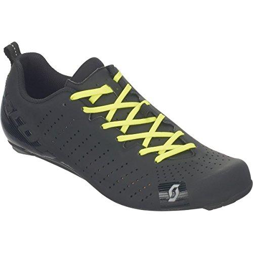 シネウィ摂氏度マインド(スコット) Scott Road RC Lace Shoe メンズ ロードバイクシューズMatte Black/Gloss Black [並行輸入品]