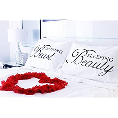 Thee Glamour Bride Couples Pillowcases- His and Hers Pillowcases,, Wedding Gift, Engagement Gift, Couples Gift, Newlywed Gift