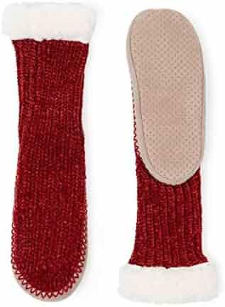 c75826531890 MaaMgic Womens Warm Fuzzy Slipper Socks Winter Girls Cozy Funny Grip Socks  Christmas Gift