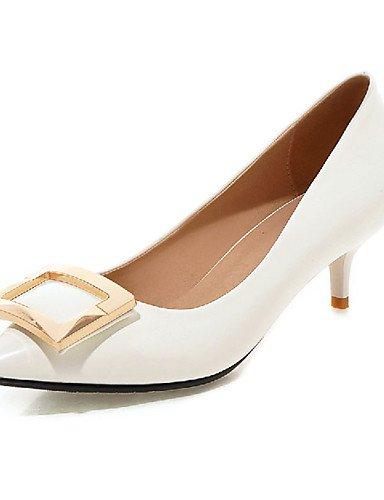 GGX/ Zapatos de mujer-Tacón Stiletto-Tacones-Tacones-Exterior / Oficina y Trabajo / Casual-Sintético-Negro / Rosa / Rojo / Blanco / Plata / , golden-us10.5 / eu42 / uk8.5 / cn43 , golden-us10.5 / eu42 red-us3.5 / eu33 / uk1.5 / cn32