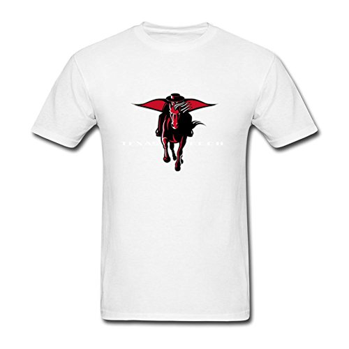 CQWN Men's American College Football Team Big Texas Tech Red Raiders Logo T Shirts