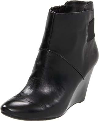 Nine West Women's Peekaboo Ankle Boot,Black Leather,7.5 M US