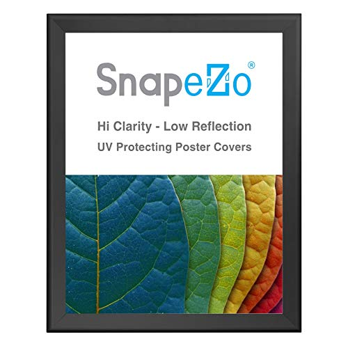 SnapeZo Poster Frame 36x48 Inches, Black 1.7 Inch Aluminum Profile, Front-Loading Snap Frame, Wall Mounting, Wide Series