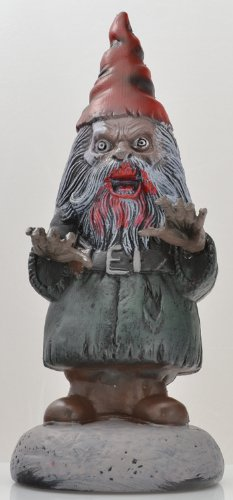 Garden Gnome of Zombie Horror Statue