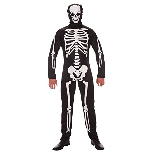 Halloween Skeleton Costume, Jumpsuit with -