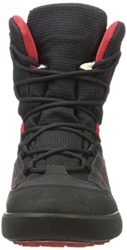 Lowa Raik GTX Mid, Zapatillas de Senderismo Unisex Niños Negro (Black/red)