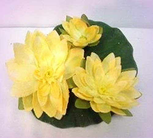 Wholesale Water Lilies - Inna-Wholesale Art Crafts New Large Floating Silk Water Lily Yellow Lilies Centerpiece Decorating Flowers - Perfect for Any Wedding, Special Occasion or Home Office D?cor