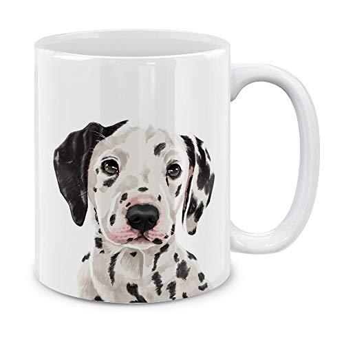 (MUGBREW Cute Dalmatian Dog Full Portrait Ceramic Coffee Gift Mug Tea Cup, 11 OZ )