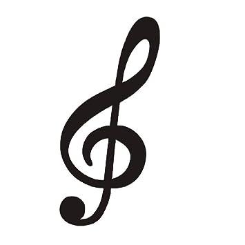 3D Etiqueta De La Pared Clave De Sol Nota Musical Silhoutte ...