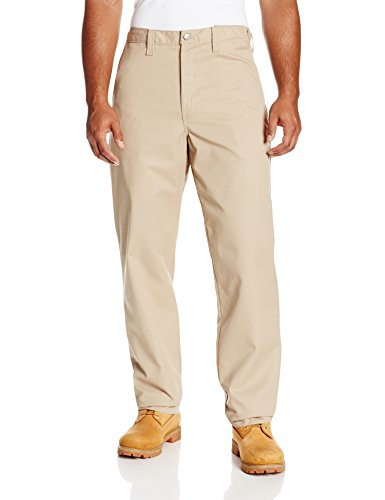 Dickies Occupational Workwear LP700DS 38x32 Polyester/ Cotton Relaxed Fit Men's Premium Industrial Flat Front Comfort Waist Pant with Straight Leg, 38