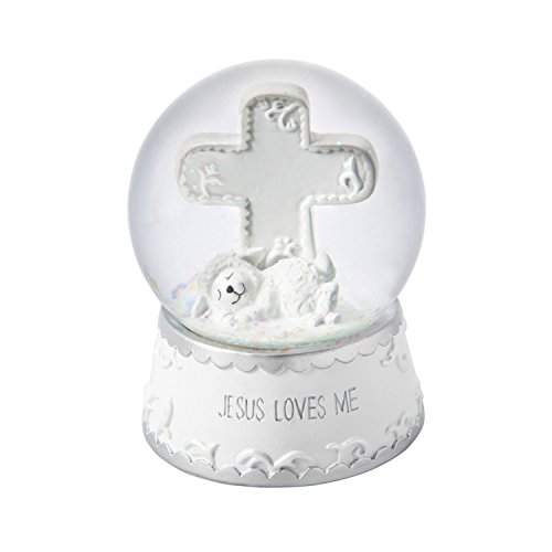 Cypress Home Jesus Loves Me Keepsake Water and Glitter Globe with Music Box