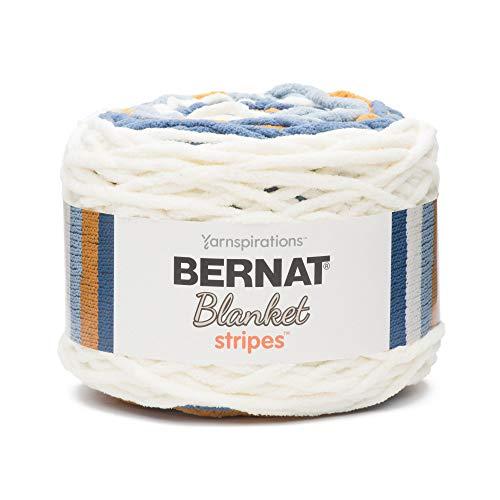 Bernat Blanket Stripes Yarn, 10.5 oz, Gauge 6 Super Bulky Chunky, Big Sky Country ()