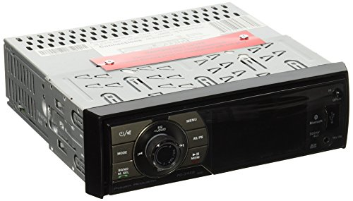 POWER ACOUSTIK PD-344B In-Dash Single DIN DVD AM/FM Receiver with 3.4-Inch LCD HD Monitor, Bluetooth and USB/SD Input