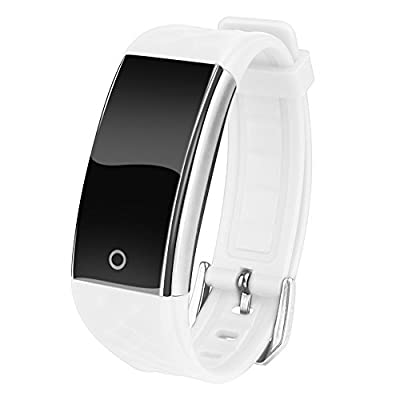 Cocare S2 Smart Band Touch Screen Smartwatchs Waterproof Fitness Tracker Sport Wristband with Sleep Monitor Pedometer for Android iOS-White