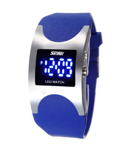 Men's Women's Water Resistant LED Digital Display Alloy Case