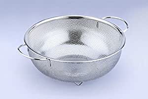 Uniware High Quality Stainless Steel Rice/Pasta/Vegetable/Fruit Colander, Silver (8 Inch)