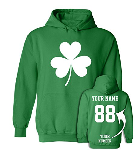 Tee Miracle Custom Jerseys ST Patrick's Day Hoodies - Saint Pattys Sweaters & Irish Outfits (Shamrock Sweatshirt Kids)