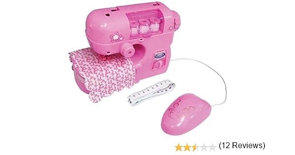 Máquina de coser para niños Rosa Con funciones que funcionan de ...