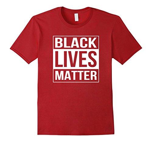 Men's Black Lives Matter Political Protest T-Shirt Medium Cranberry