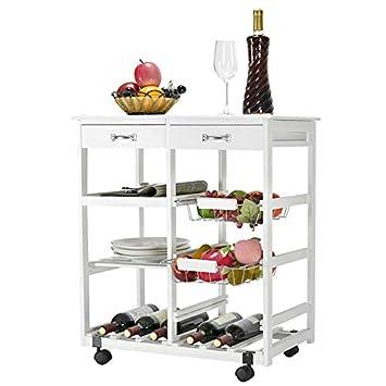 Carrito de Cocina Grande con 4 estantes para Limpiar y Servir, Almacenamiento de Alimentos y Bebidas, de la Marca Generic: Amazon.es: Electrónica