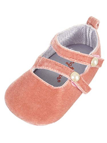 Rising Star Baby Infant Mary Jane Booties - Pink, 9-12 Months