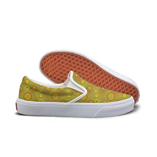 Lalige Peacock Feathers Womens Funny Canvas Slip-ons Skateboarding Shoes
