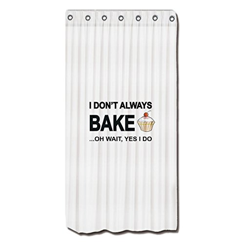 Shower Curtains I don't always bake...oh wait yes I Do! polyester shower curtain By YYT 36