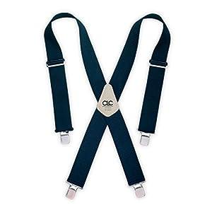 Custom LeatherCraft 110BLK Heavy Duty Work Suspenders