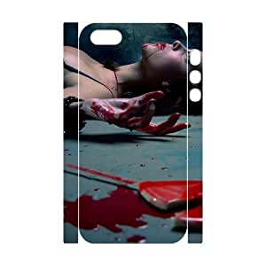 Bloody Bloody girl CHA2081812 3D Art Print Design Phone Back Case Customized Hard Shell Protection Iphone 5,5S