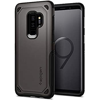 premium selection 02a6f 08966 Spigen Hybrid Armor Galaxy S9 Plus Case with Air Cushion Technology and  Secure Grip Drop Protection for Samsung Galaxy S9 Plus (2018) - Gunmetal