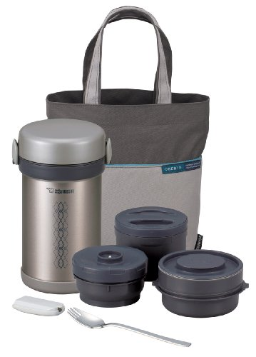 Zojirushi ZONCE09ST Ms. Bento Stainless-Steel Vacuum Lunch Jar 28.5-Ounce
