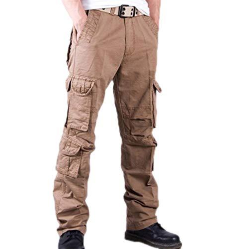 Semplice Uomo Da Mimetici Campeggio Eastery Multi Carico Casual Pantaloni Khaki tasca Multifunzione Stile Con Combattimento wI5w0q
