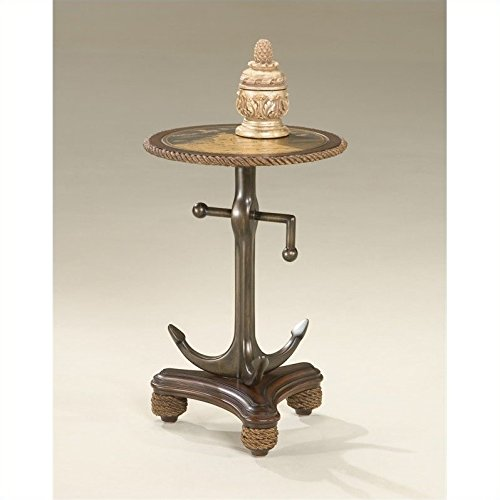 BUTLER 2326070 ANCHORS AWEIGH ROUND ACCENT TABLE ()