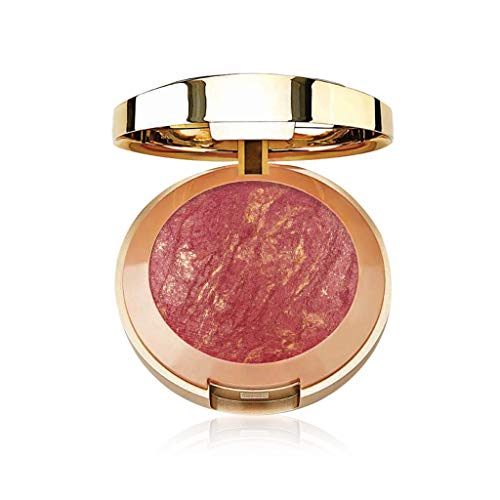 Lipstick Red Rose Petal - Milani Baked Blush - Red Vino (0.12 Ounce) Vegan, Cruelty-Free Powder Blush - Shape, Contour & Highlight Face for a Shimmery or Matte Finish