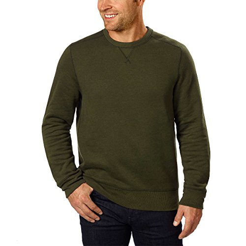 G.H. Bass Mens Crew Neck Sweatshirt (XL, Green)