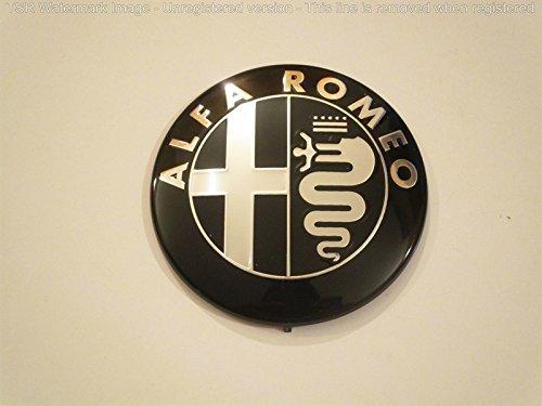 1 escudo de armas ALFA ROMEO MITO GIULIETTA 159 147 GT BRERA logoTIPO DELANTERO O TRASERO NEGROS: Amazon.es: Coche y moto