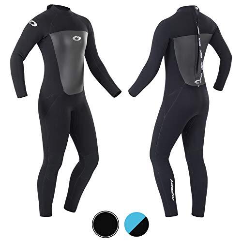 Osprey Damen Origin Neoprenanzug 5mm Lang Winter Wetsuit und Surfanzug, Schwarz