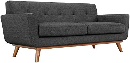 Modway Engage Mid-Century Modern Upholstered Fabric Loveseat Review