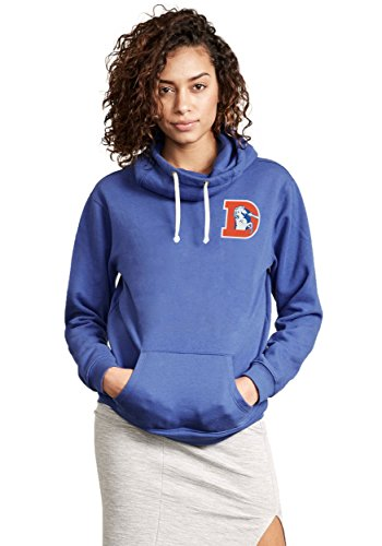 Denver Broncos Sunday Cowl Neck Women's Hoodie Large