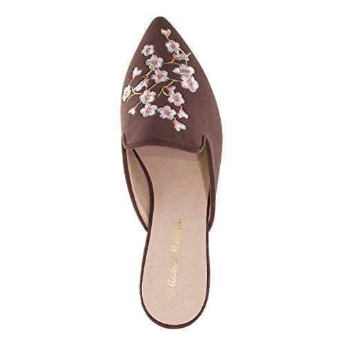 Grises chaussures Marron am5249 42 Andres Machado Ouvertes 45 Pointures Femmes À pour grandes L´arrière wx4CfqStC