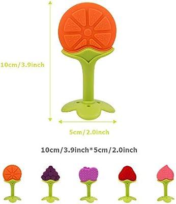 Juguetes para la dentición Masticadores Sensoriales Silicona Fruta ...