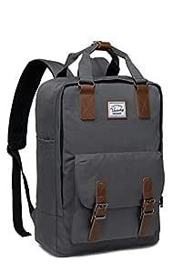 Backpack for Teen Girls,VASCHY Vintage Laptop Backpack Water-Resistant School Backpack Dark Grey