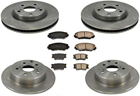 Ceramic Pad For 2006 2007 2008-2012 Toyota Rav4 4-Cylinder Front Brake Rotors