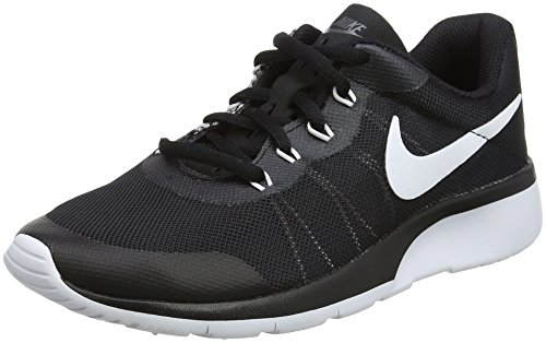 (NIKE Boy's Tanjun Racer (GS) Running Shoes (4 Big Kid M, Dark Grey/White/Black))
